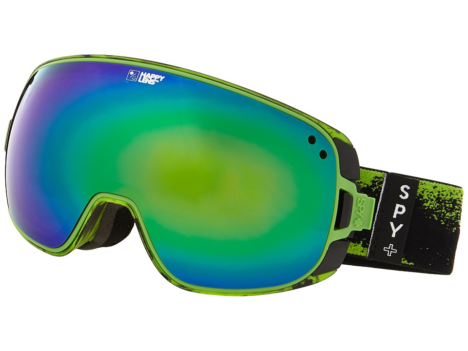Spy Optic - Bravo (Masked Green/Happy Bronze/Green Spectra/Persimmon/Silver Mirror) Snow Goggles