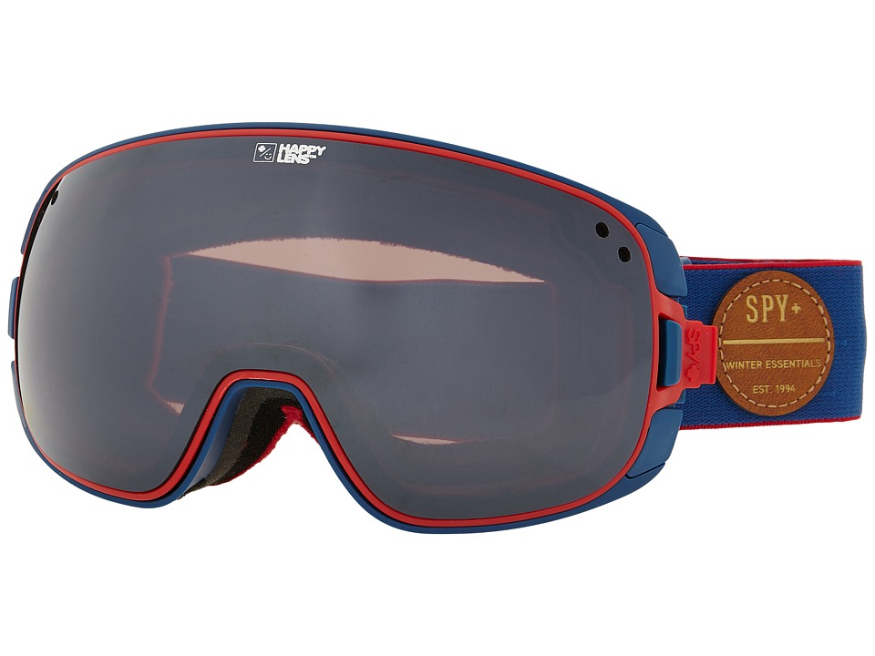 Spy Optic - Bravo (Heritage Navy/Happy Bronze/Silver Mirror/Happy Rose) Snow Goggles