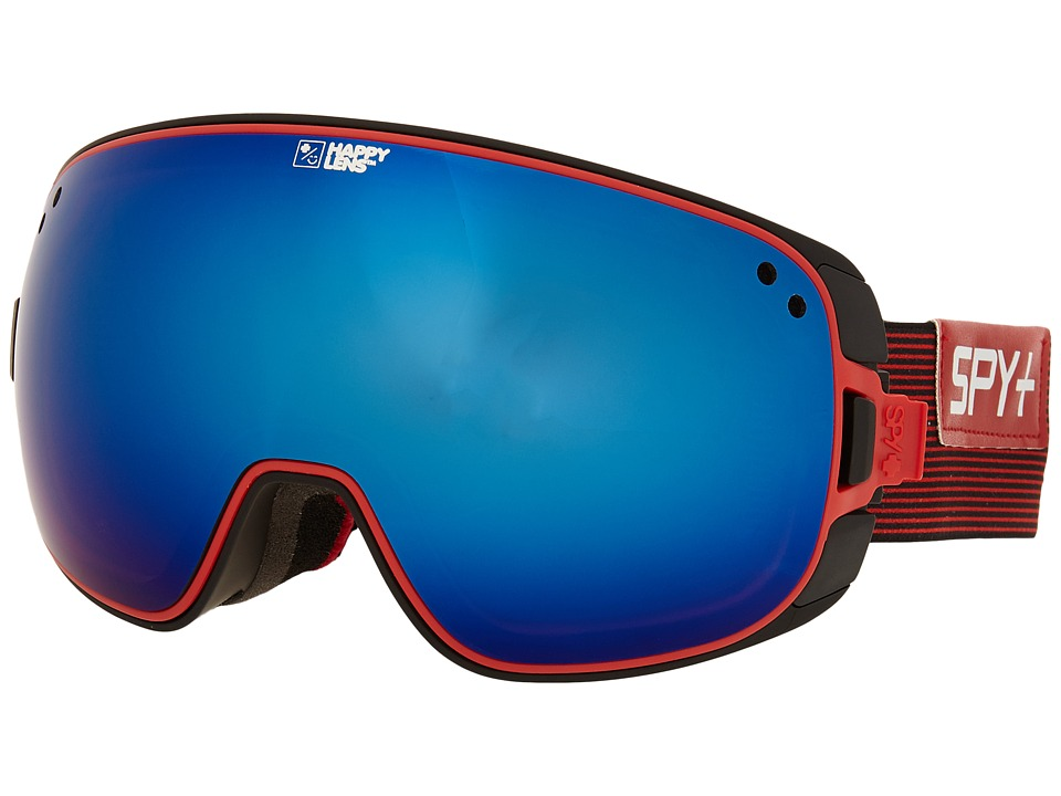 Spy Optic - Bravo (Galactic Red/Happy Bronze/Dark Blue Spectra/Happy Persimmon) Snow Goggles