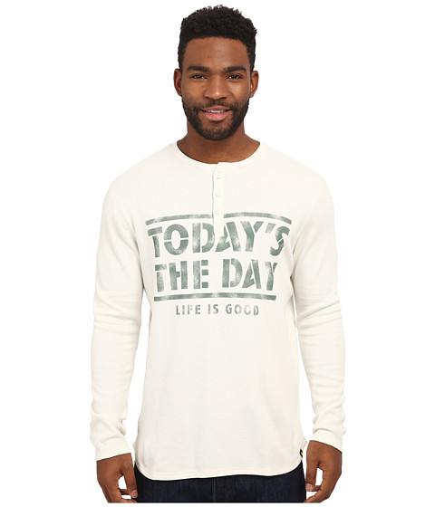 Life is good - Thermal Sleep Henley (Simply Ivory) Men