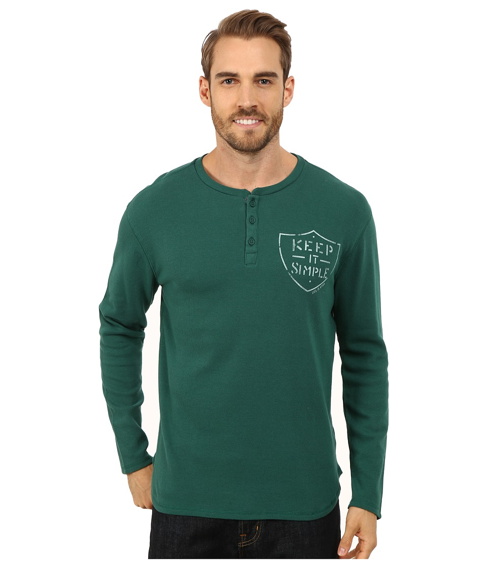 Life is good - Thermal Sleep Henley (Hunter Green) Men's Pajama