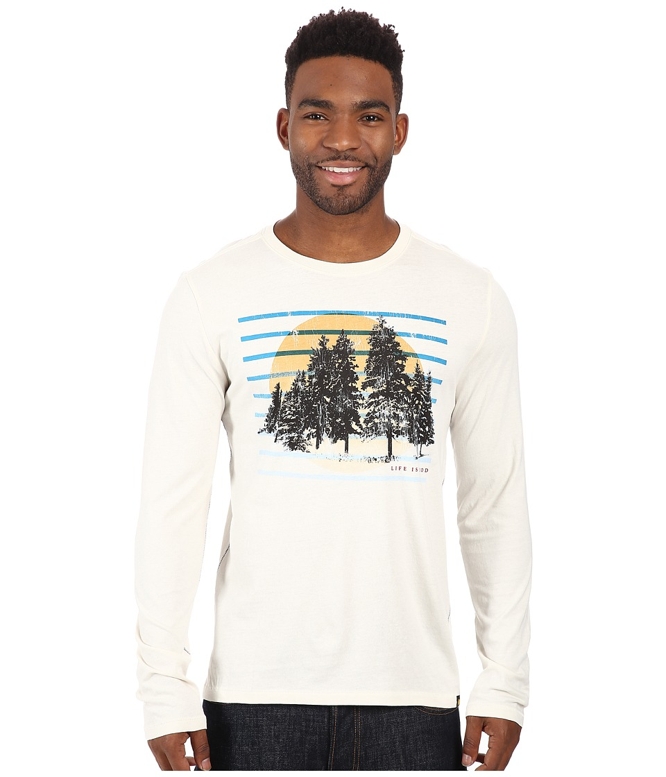 Life is good - Newbury Long Sleeve Tee (Simply Ivory) Men