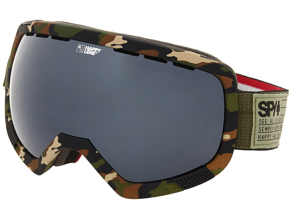 Spy Optic - Platoon (Fatigue/Happy Gray Green/Silver Mirror/Happy Yellow) Snow Goggles