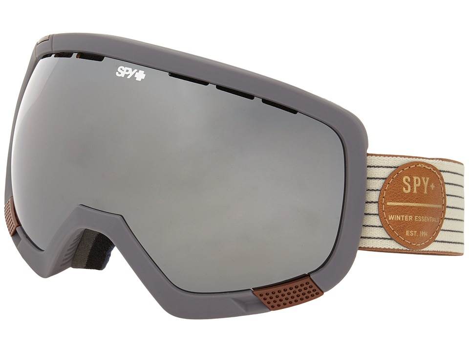 Spy Optic - Platoon (Heritage White/Bronze/Silver Mirror/Persimmon Contact) Snow Goggles