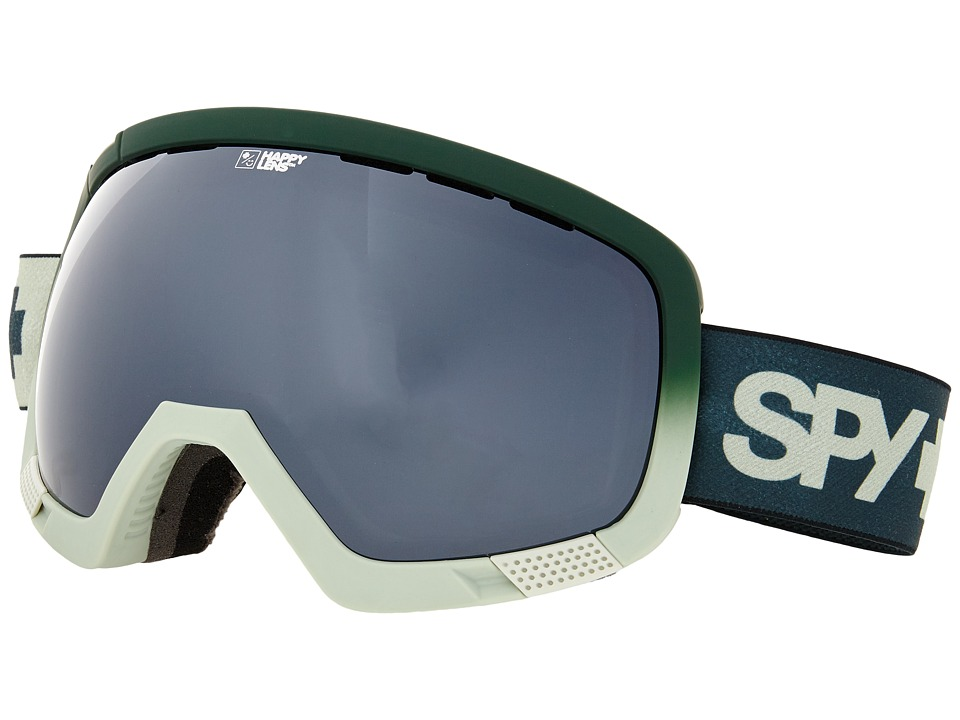 Spy Optic - Platoon (Green Fade/Happy Gray Green/Silver Mirror/Happy Yellow) Snow Goggles