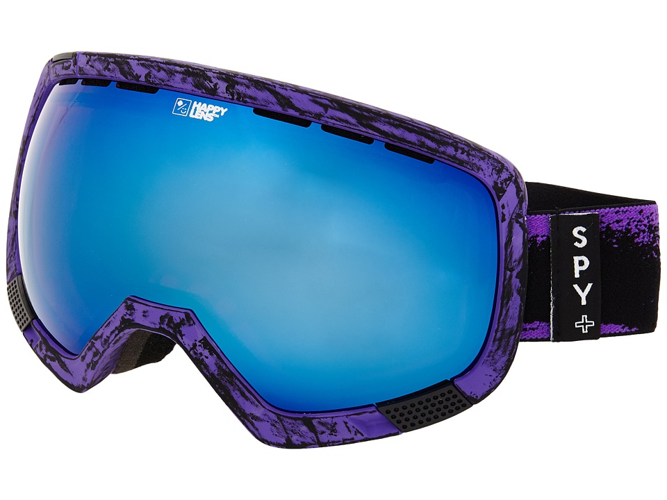 Spy Optic - Platoon (Masked Purple/Happy Rose/Dark Blue Spectra/Happy Bronze) Snow Goggles
