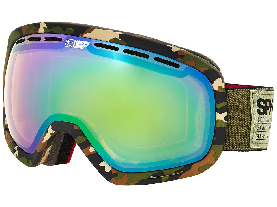 Spy Optic - Marshall (Fatigue/Happy Yellow/Green Spectra/Happy Gray Green) Snow Goggles