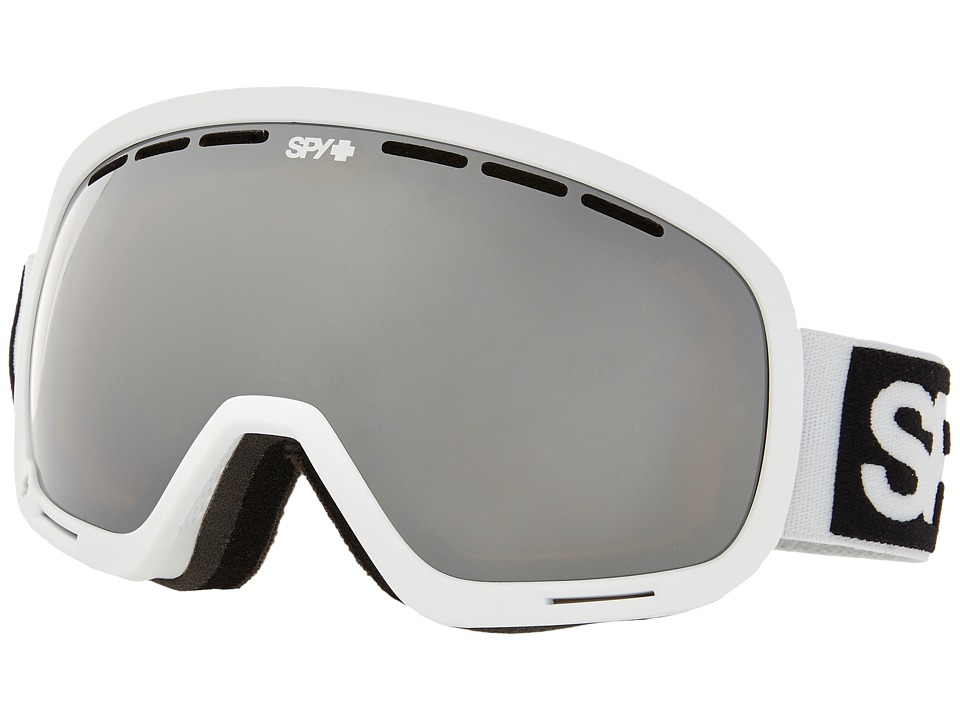 Spy Optic - Marshall (White/Bronze/Silver Mirror/Persimmon Contact) Snow Goggles