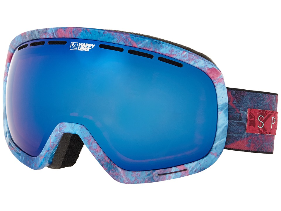 Spy Optic - Marshall (Marbled Purple/Happy Rose/Dark Blue Spectra/Happy Bronze/Silver) Snow Goggles