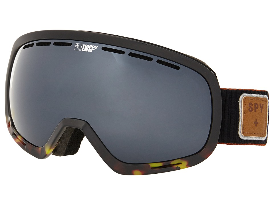Spy Optic - Marshall (Pepper Tort/Happy Gray Green/Silver Mirror/Happy Yellow) Snow Goggles