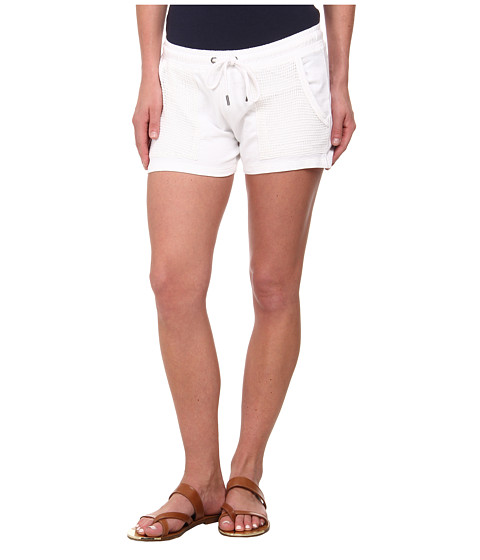 Lucky Brand - Mesh Mixed Shorts (Lucky White) Women's Shorts