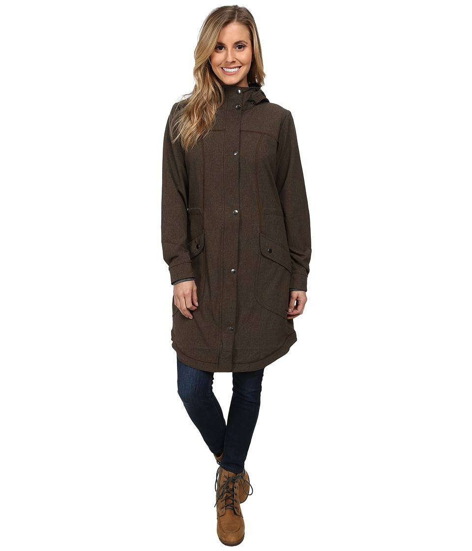 ExOfficio - Ometti Trench (Cigar Heather) Women's Coat