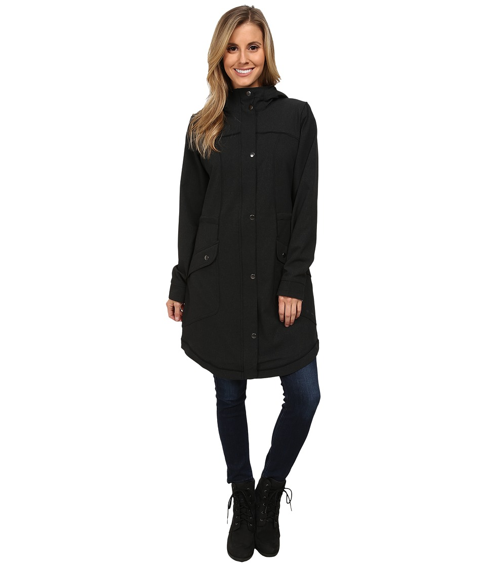 ExOfficio - Ometti Trench (Black Heather) Women's Coat