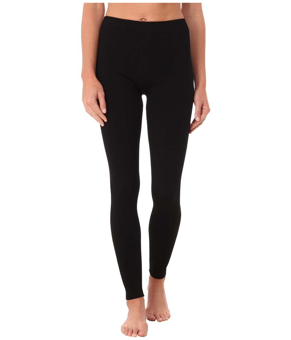 Terramar - 3.0 Seamless Footless Leggings W8902 (Black Cable) Women's Casual Pants