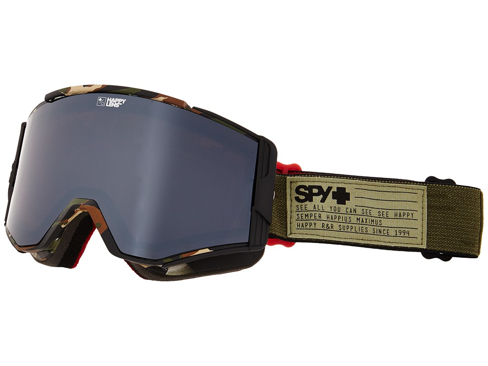 Spy Optic - Ace (Fatigue/Happy Bronze/Silver Mirror/Happy Persimmon) Goggles