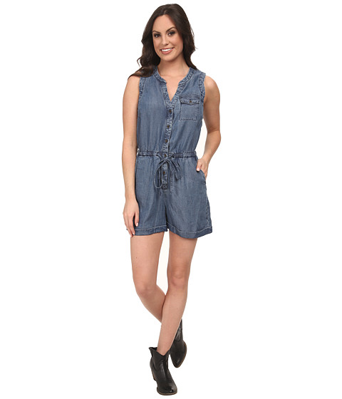 Lucky Brand - Tencel Romper (Medium Wash) Women's Jumpsuit & Rompers One Piece