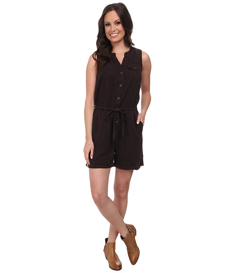 Lucky Brand - Tencel Romper (Washed Black) Women's Jumpsuit & Rompers One Piece