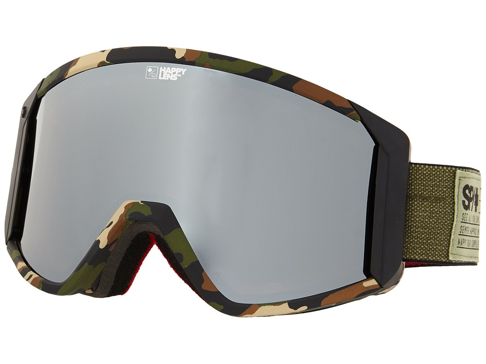 Spy Optic - Raider (Fatigue/Happy Bronze/Silver Mirror/Persimmon) Snow Goggles