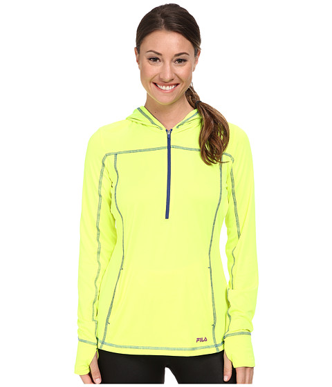 Fila - Zippy Hoodie (Safety Yellow/Twilight/Purple Cactus Flower) Women's Sweatshirt