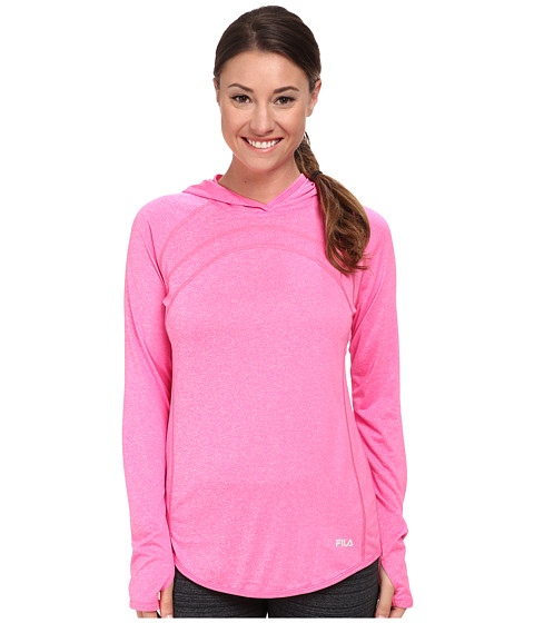 Fila - Heather Hoodie (Pink Surprise Heather/Black) Women's Sweatshirt