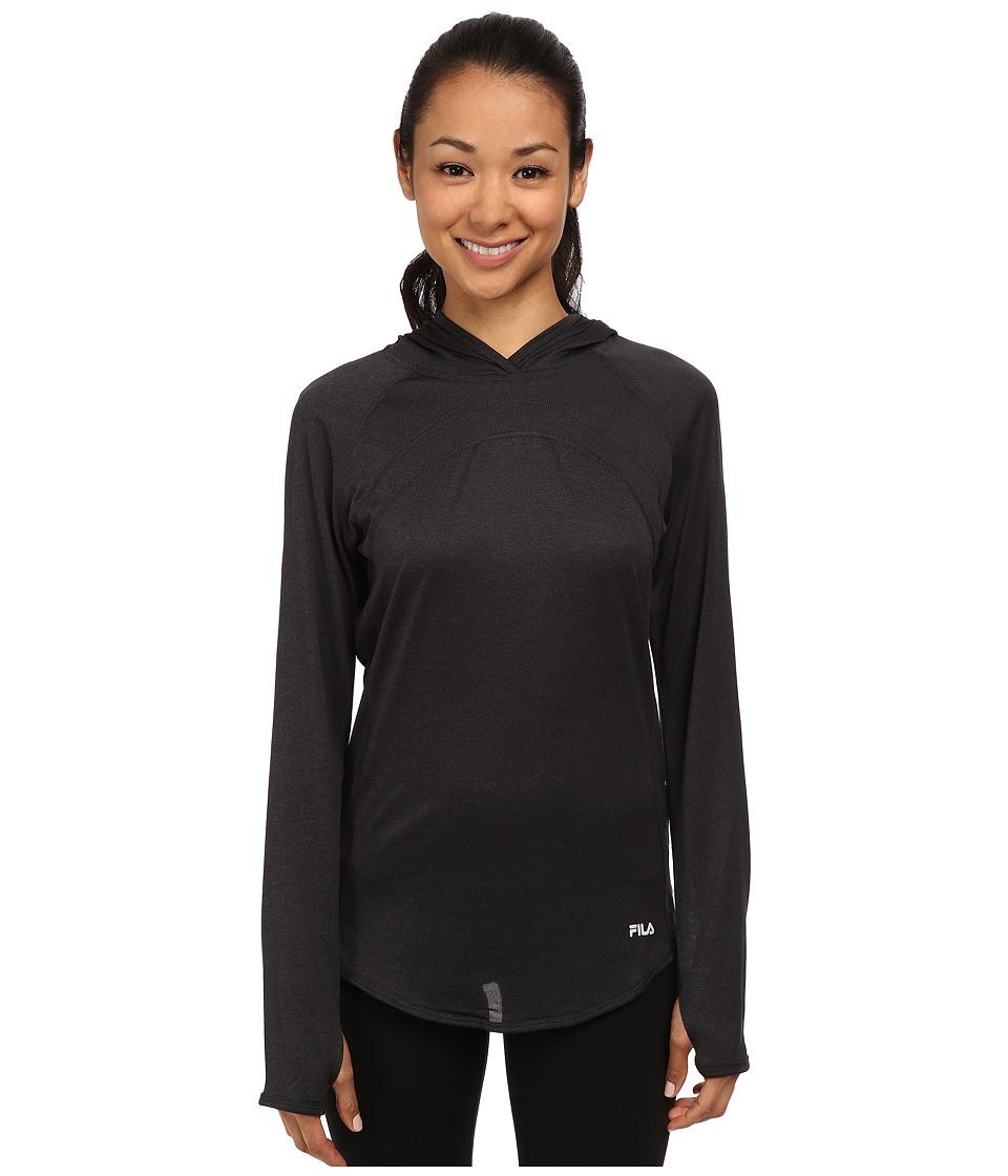 Fila - Heather Hoodie (Black Heather) Women's Sweatshirt