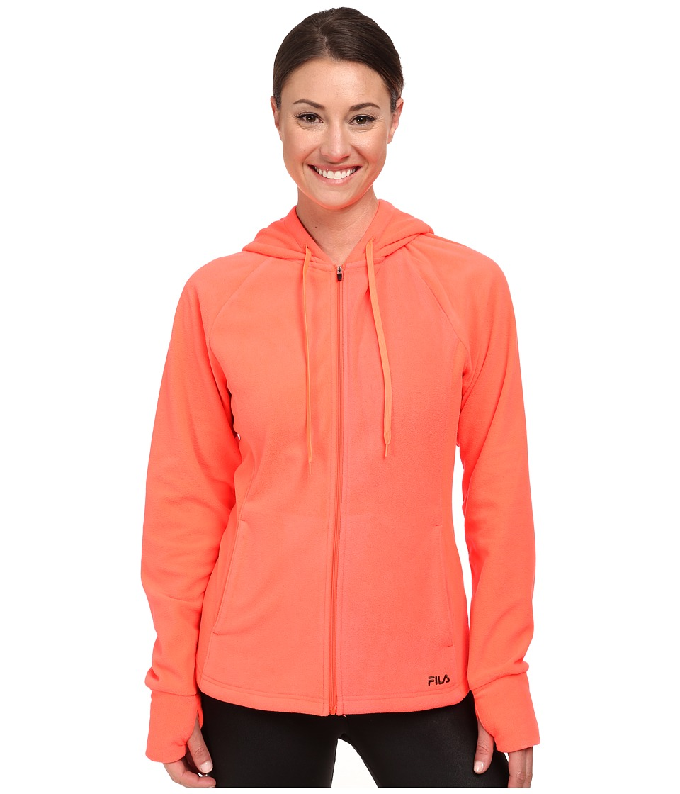 Fila - Comfy Jacket (Fiery Coral/Rifle Green) Women's Coat