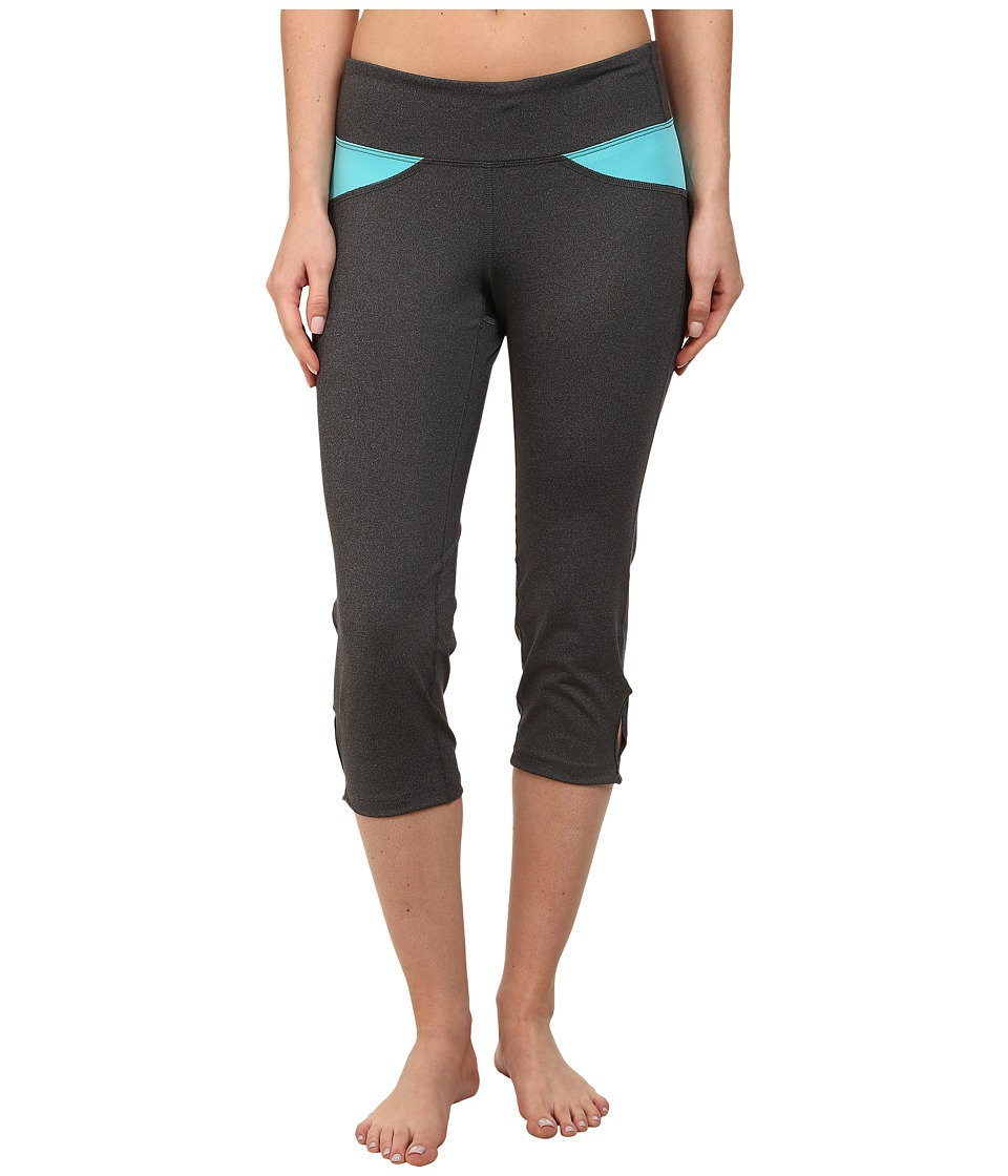 Stonewear Designs - Volt Capris (Heather Gray/Robin Egg) Women's Capri