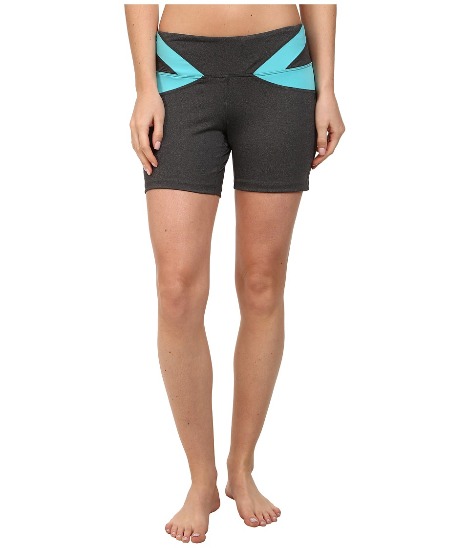 Stonewear Designs - Vibe Shorts (Heather Gray/Robin Egg) Women's Shorts