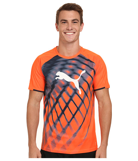PUMA - IT evoTRG Graphic Tee (Lava Blast/Total Eclipse) Men's T Shirt