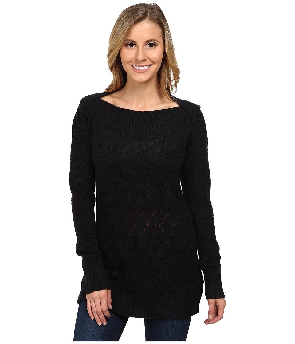 ExOfficio - Irresistible Caffe Tunic Top (Black) Women's Long Sleeve Pullover