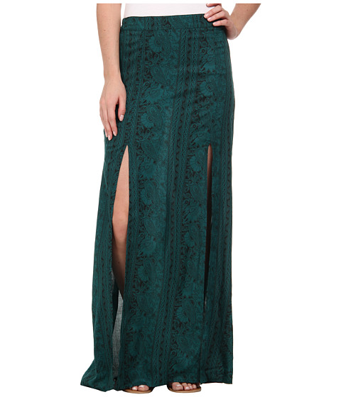 Billabong - Never Look Back Maxi Skirt (Emerald Bay) Women's Skirt