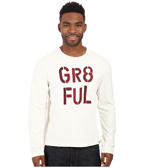 Life is good - Pocket Sleep Long Sleeve Tee (Simply Ivory) Men