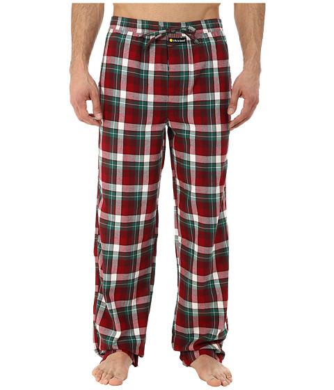 Life is good - Classic Sleep Pant (Red/Green Plaid) Men