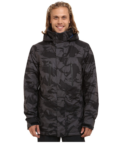 Burton - Breach Jacket 15 (True Black DPM Camo) Men's Coat