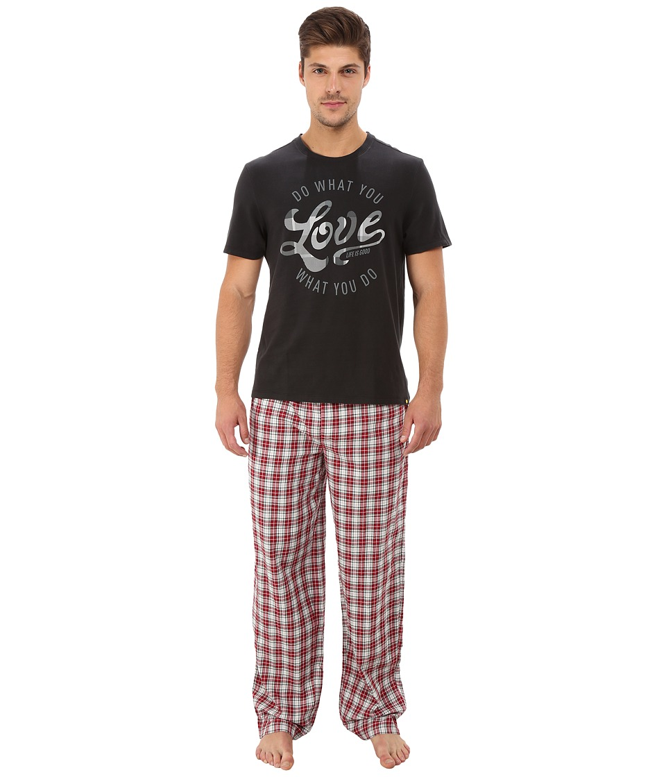 Life is Good - Holiday Sleep Set (Night Black) Men's Pajama Sets