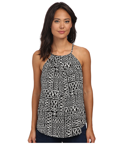 Sanctuary - Origami Shell Top (Black/White Tiki) Women's Sleeveless