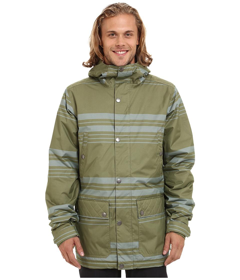 Burton - TWC Greenlight Jacket (Algae Belmont Stripe) Men's Coat
