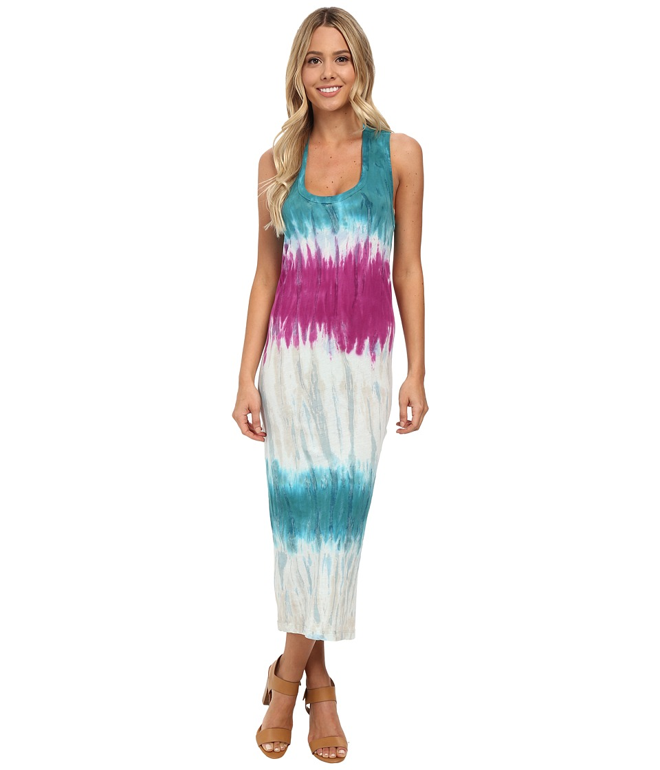 Young Fabulous & Broke - Denny Dress (Turquoise Drizzle Stripe) Women's Dress