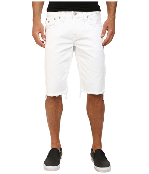 True Religion - Ricky Shorts w/ Flap Core - Optic White (Optic White) Men's Shorts