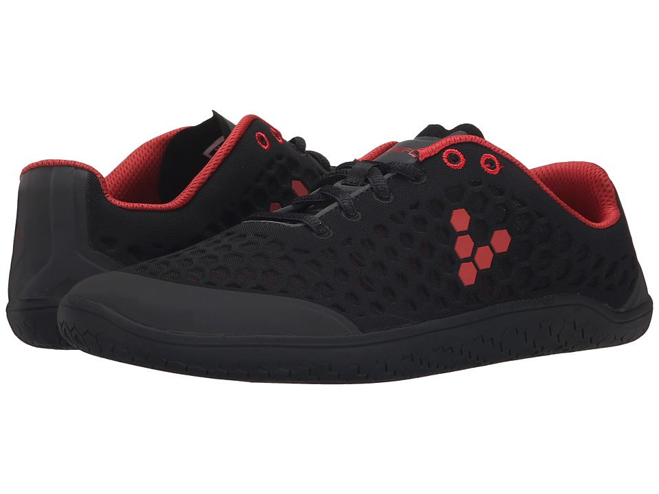 Vivobarefoot - Stealth II (Black/Red) Men's Shoes