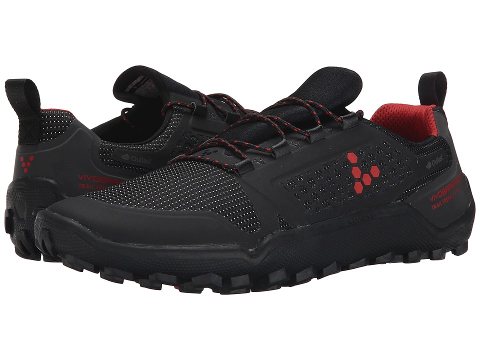 Vivobarefoot - Trail Freak II WP (Black/Red) Men's Shoes