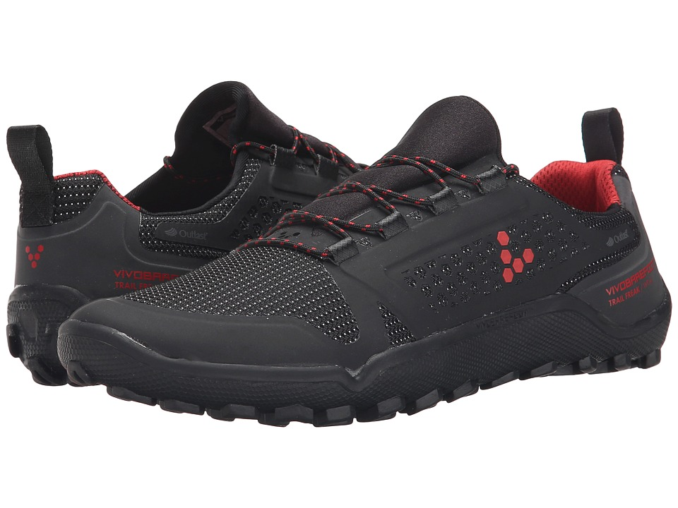 Vivobarefoot - Trail Freak II WP (Black/Red) Women's Shoes