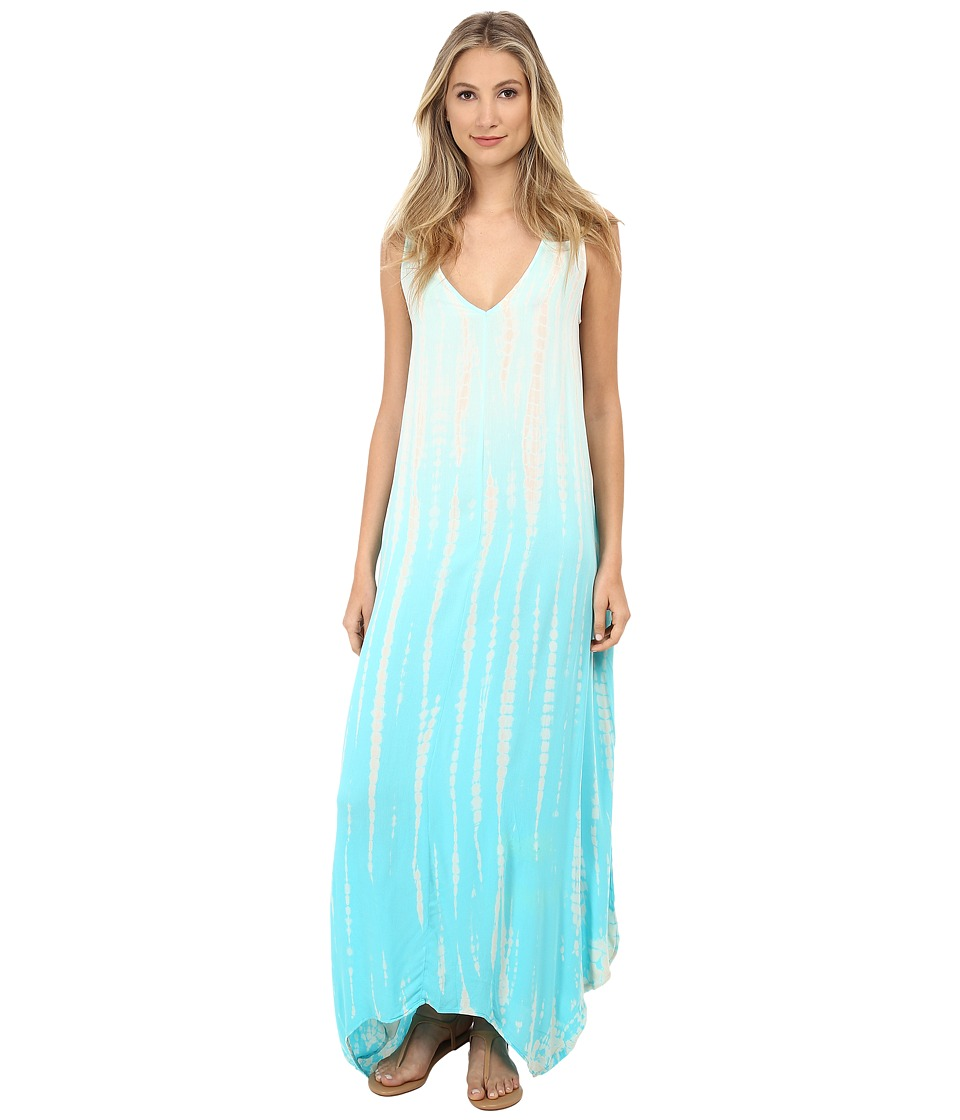 Young Fabulous & Broke - Ali Maxi (Turquoise Rain Ombre) Women's Dress