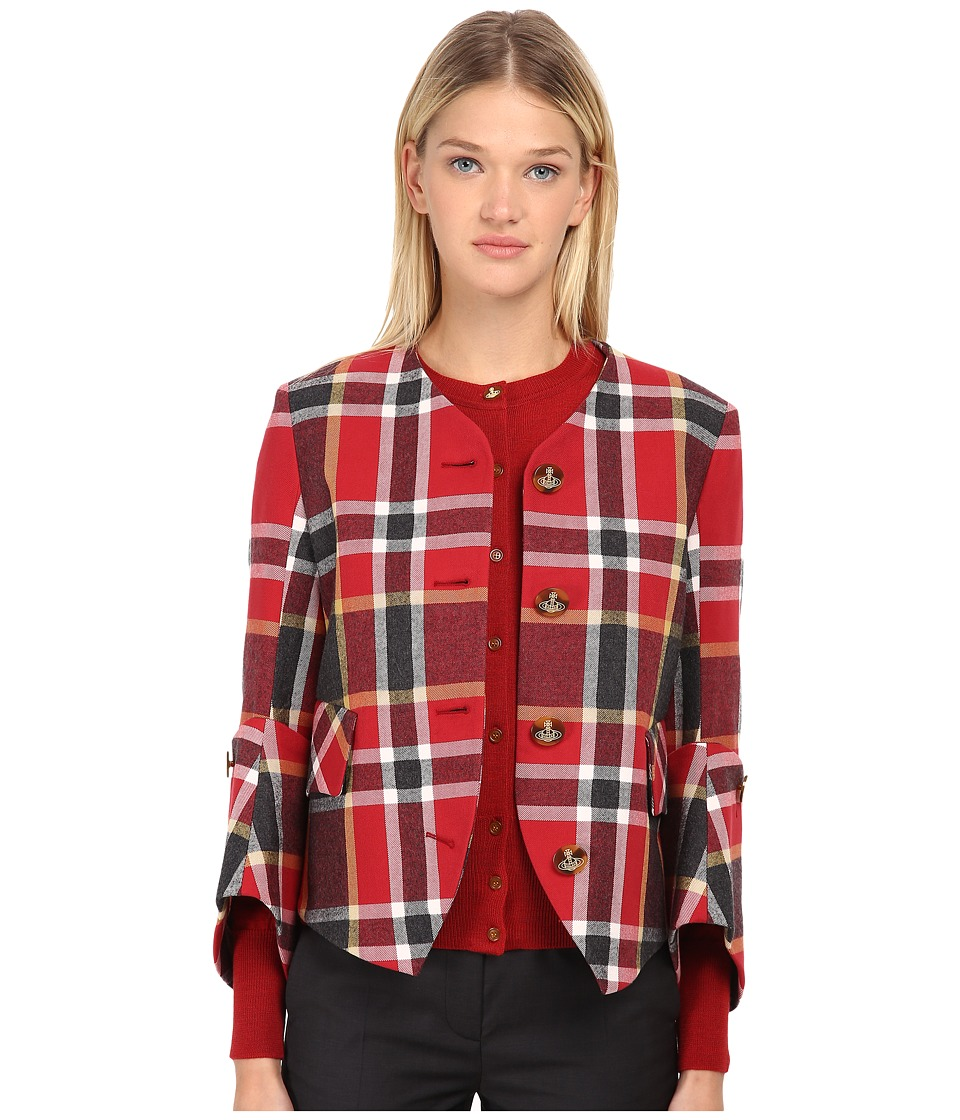 Vivienne Westwood Red Label - Washed Tartan New DL Jacket (Red Tartan) Women's Jacket