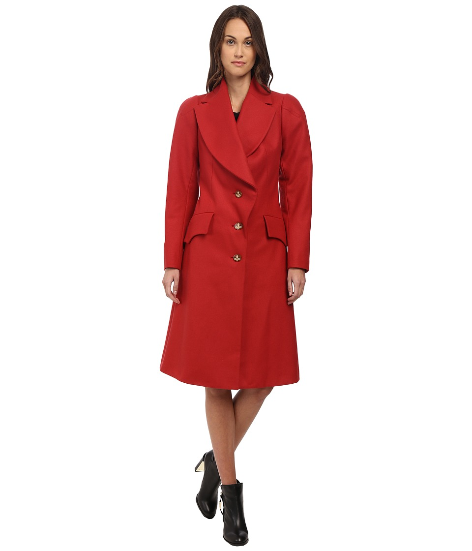 Vivienne Westwood Red Label - Classic Melton Historical Coat (Red) Women's Coat