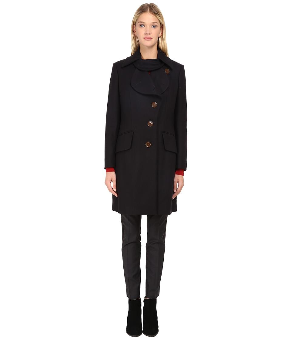 Vivienne Westwood - Classic Melton Love Coat (Navy) Women's Coat
