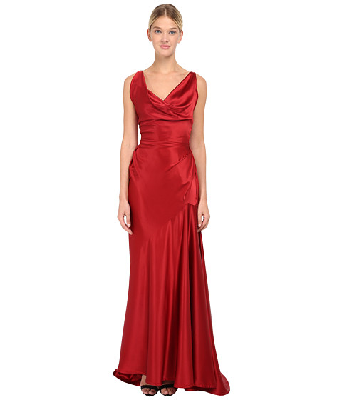 Vivienne Westwood Red Label - Stretch Satin Long Amber Dress (Red) Women's Dress