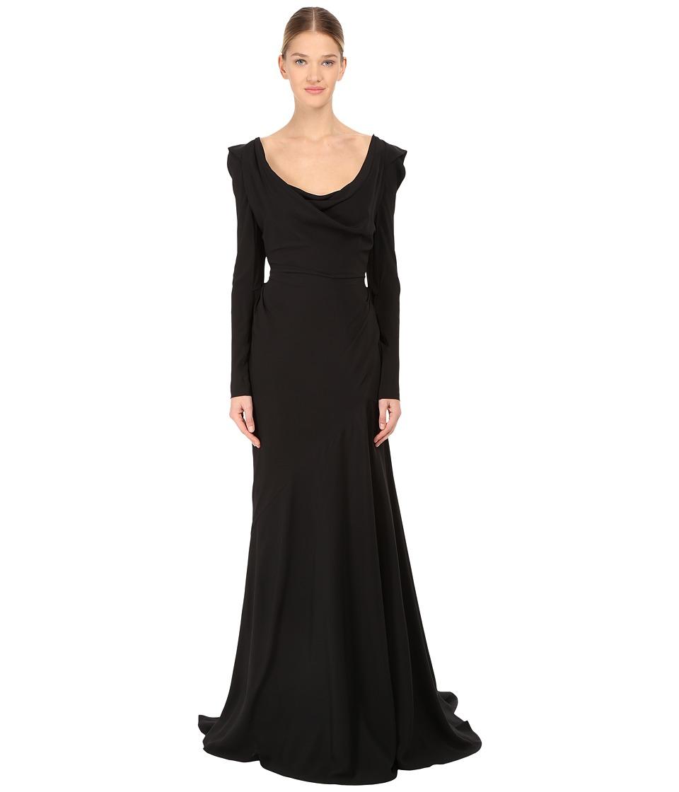 Vivienne Westwood - Classic Crepe de Chine Long Amber Dress (Black) Women's Dress