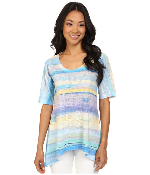 Nally & Millie - Blue Handpaint Tunic (Blue Multi) Women