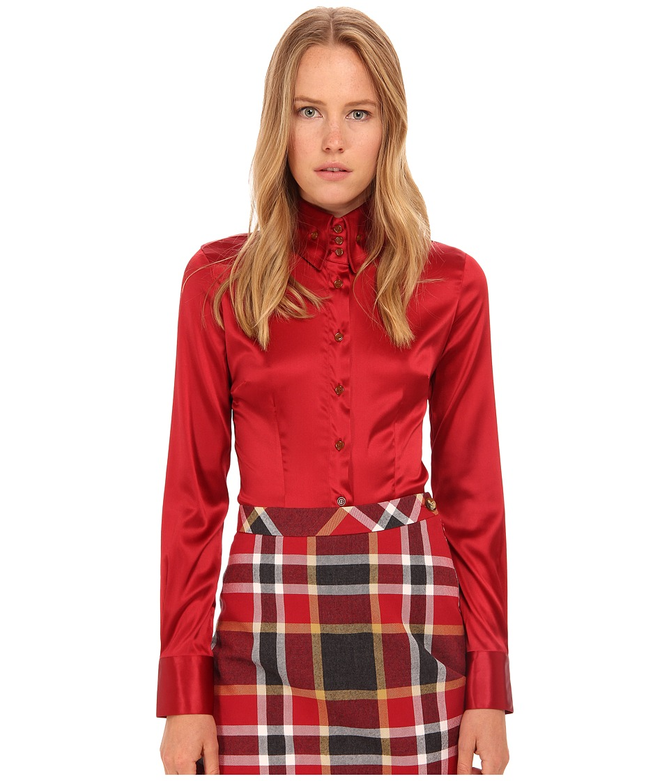 Vivienne Westwood - Stretch Satin Krall Shirt (Red) Women's Clothing